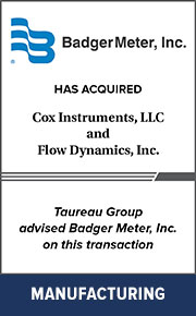 Taureau Group advised Badger Meter, Inc. on  this transaction