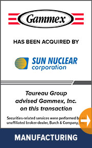 Taureau Group advised Gammex, Inc. on this transaction