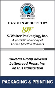 Taureau Group advised Letterhead Press, Inc. on this transaction