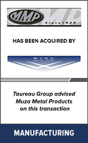 Taureau Group advised Muza Metal Products on this transaction