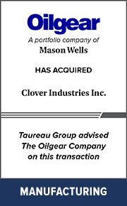 Taureau Group advised The Oilgear Company on this transaction