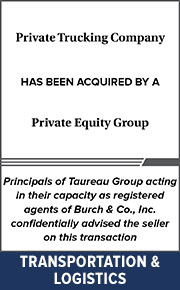 Principals of Taureau Group  acting in their capacity as registered agents of Burch & Co., Inc. confidentially advised the seller on this transaction