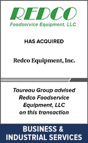 Taureau Group advised Redco Foodservice Equipment, LLC on this transaction