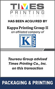 Taureau Group advised Times Printing, Co. on  this transaction